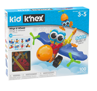 Knex 3 Plus Kid Knex - Wings & Wheels