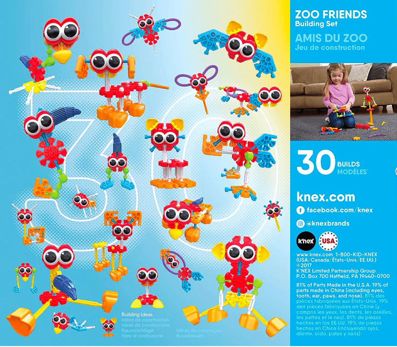 Knex 3 Plus Kid Knex Zoo Friends