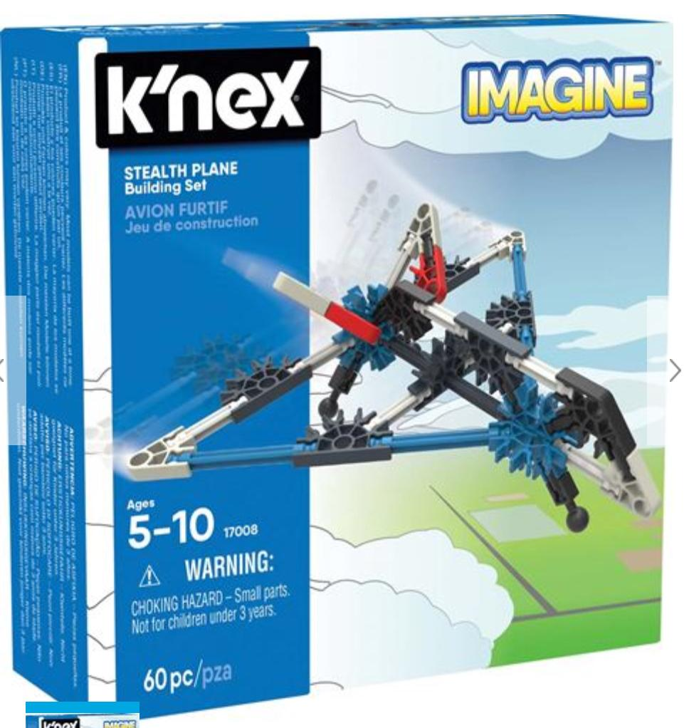 Knex 5 Plus Stealth Plane