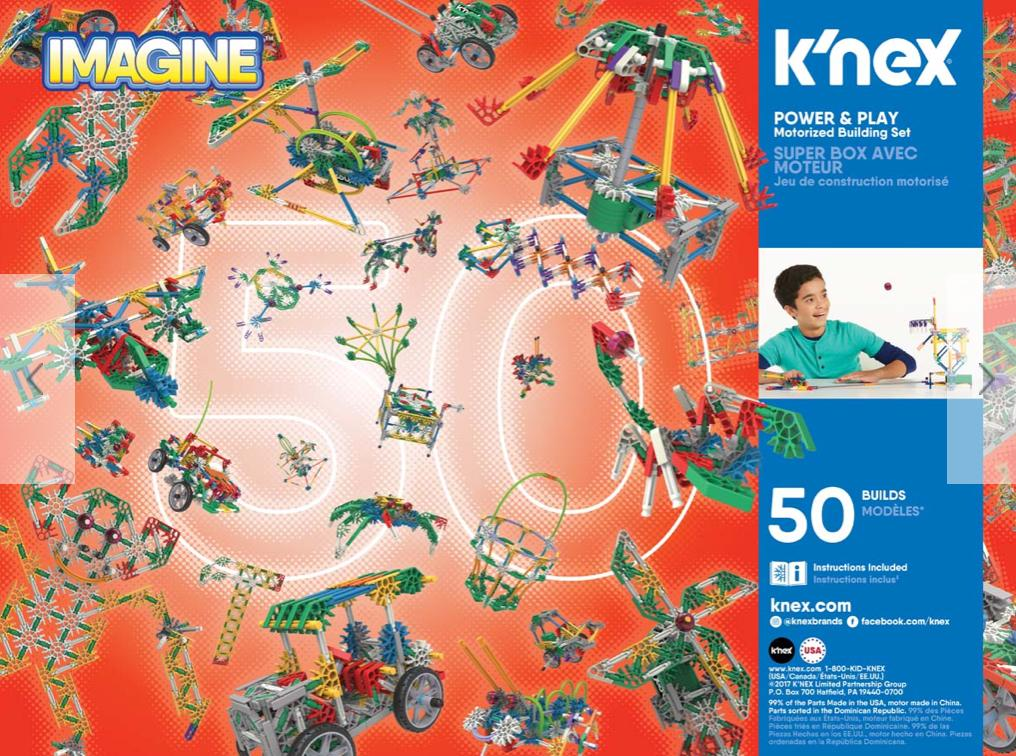 Knex 7 Plus Power and Play 50 Model Motorized Building Set