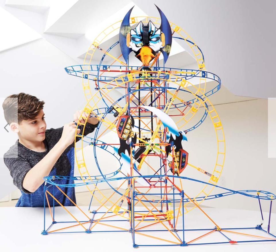 Knex 9 Plus Bionic Blast Roller Coaster Building Set