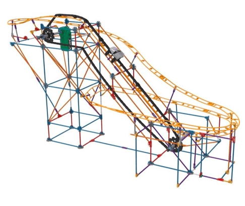 Knex 9 Plus Panther Pursuit Roller Coaster Building Set