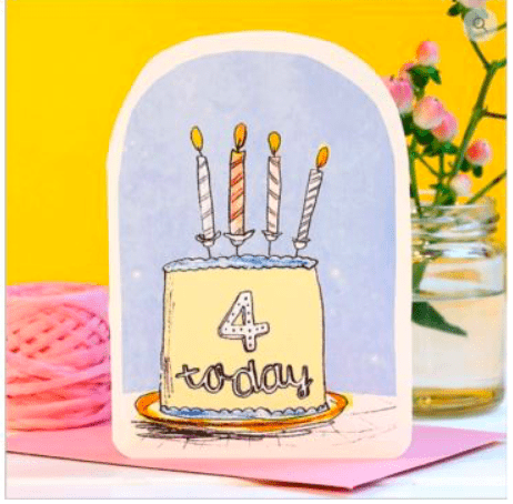 Laura Skilbeck Greeting Cards Four Today
