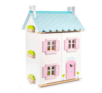 Le Toy Van 3 Plus Dolls House - Blue Bird Cottage
