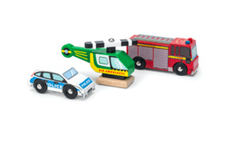 Le Toy Van 3 Plus Emergency Vehicles Set