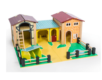 Le Toy Van 3 Plus Farms - The Farmyard Set