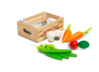 Le Toy Van 3 Plus Market Crate - Vegetables