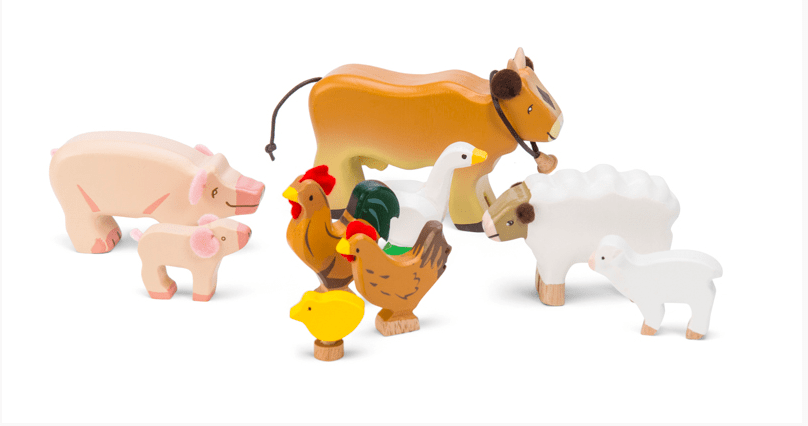 Le Toy Van 3 Plus Sunny Farm Animals