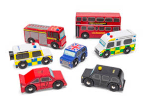 Le Toy Van 3 Plus Vehicle - London Car Set