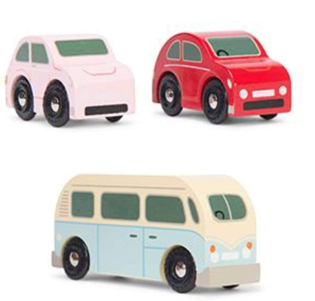 Le Toy Van 3 Plus Vehicle - Retro Metro Car Set