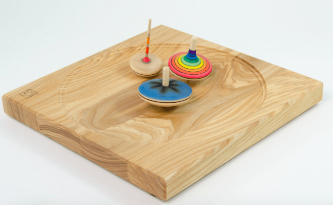 Mader 3 Plus Wooden Ash Plate Spinning Tops