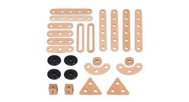 MamaMemo 3 Plus Wooden Workshop - Construction Set