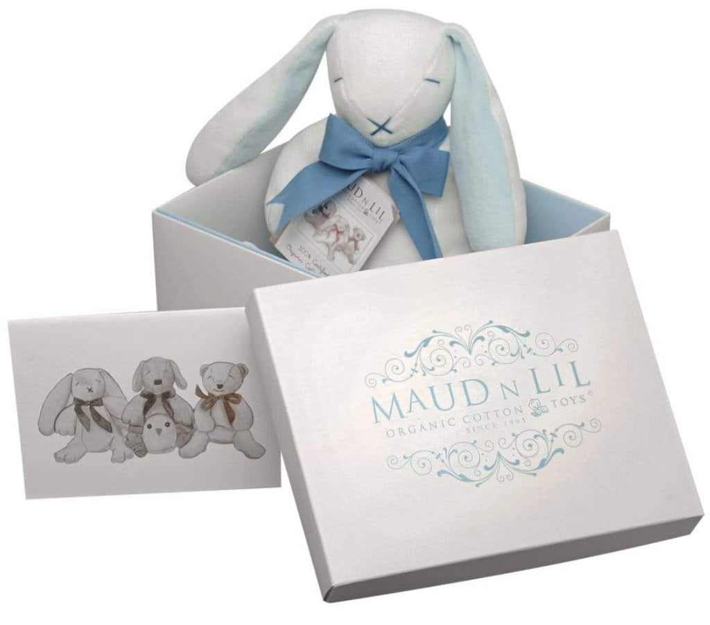 Maud n Lil Birth Plus Boxed Bunny - Blue