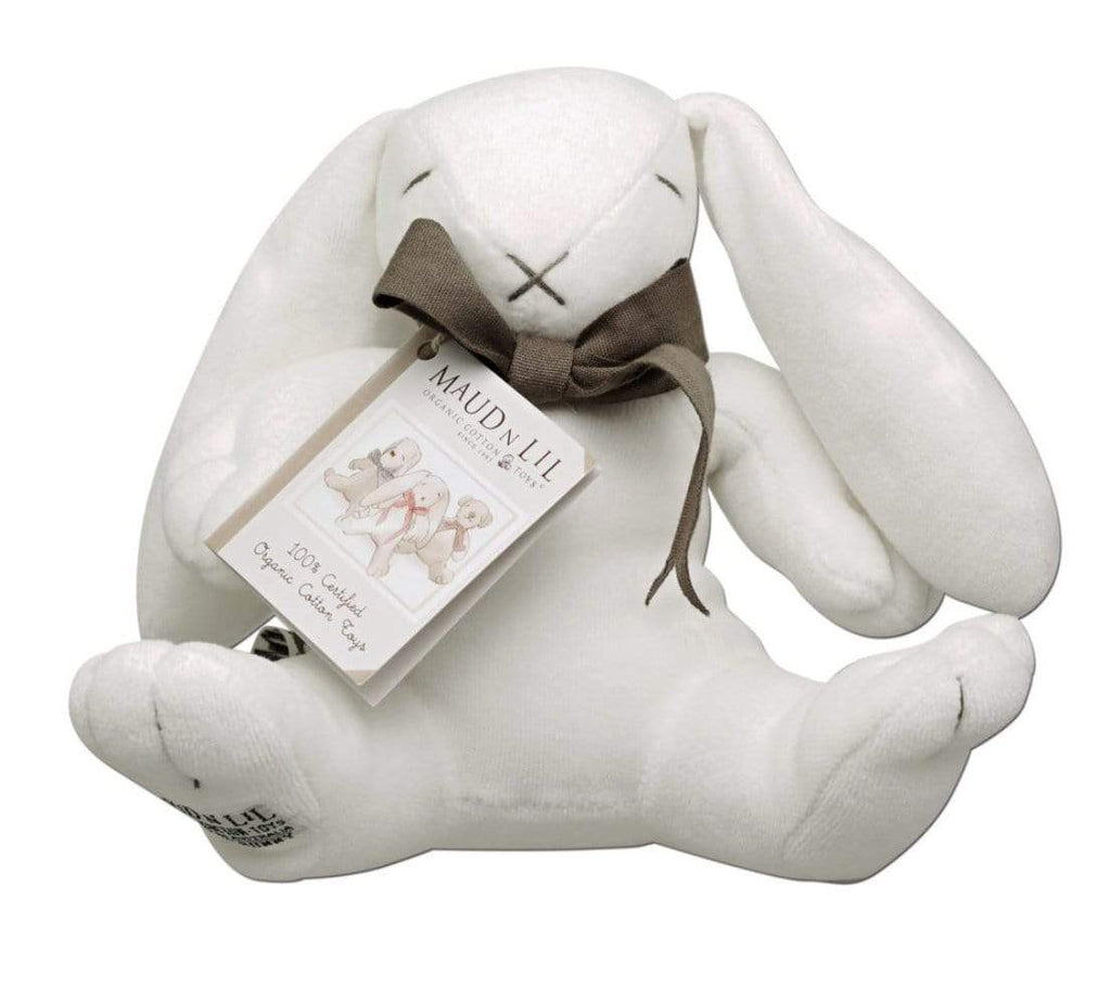 Maud n Lil Birth Plus Boxed Bunny - White