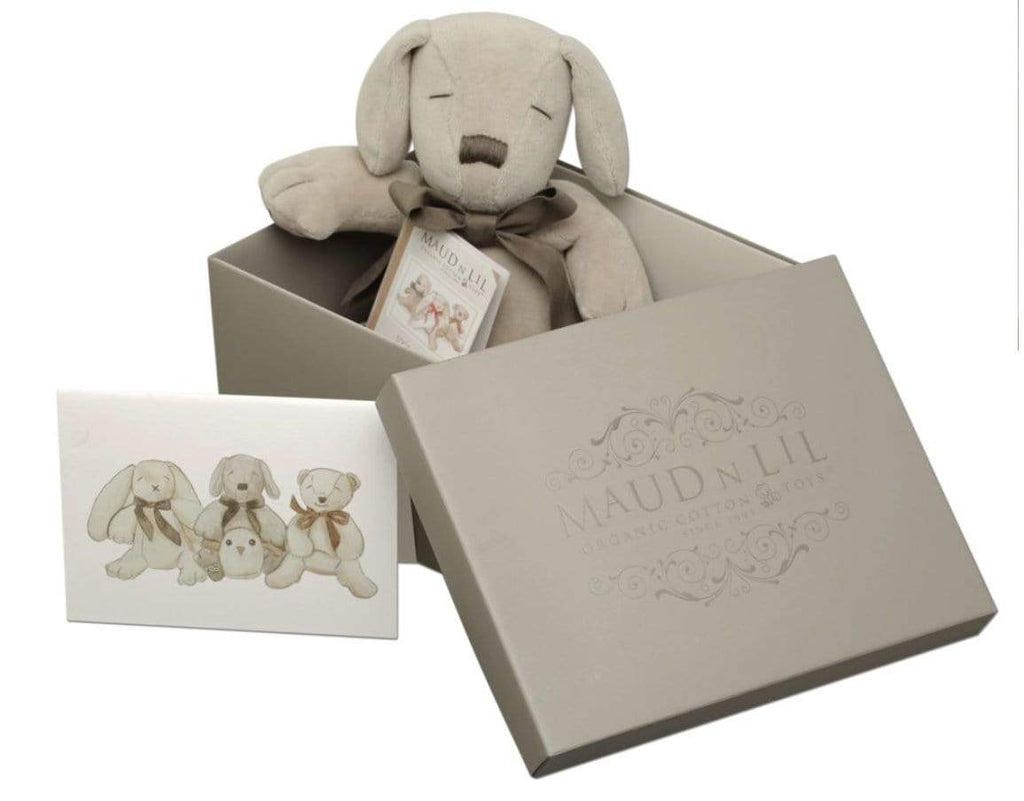 Maud n Lil Birth Plus Boxed Puppy Paws - Grey