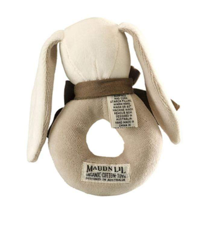 Maud n Lil Birth to 12 Months Donut Rattle - Bunny Grey