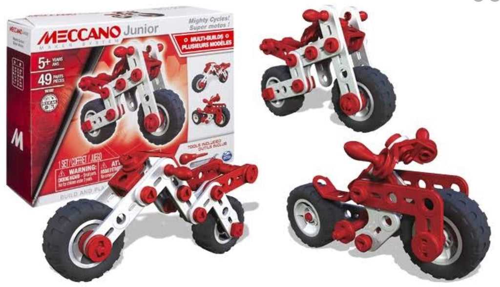 Meccano 5 Plus Junior Motorcycle 3 Model