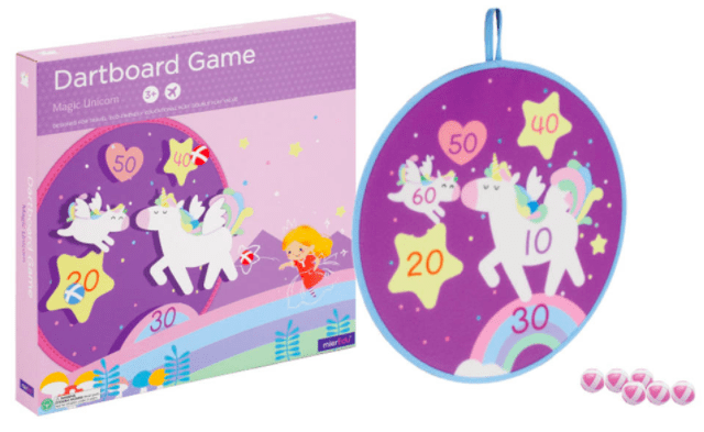 MierEdu 3 Plus Dartboard Game - Magic Unicorn