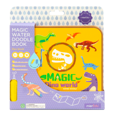 MierEdu 3 Plus Magic Water Doodle Book - Dino World
