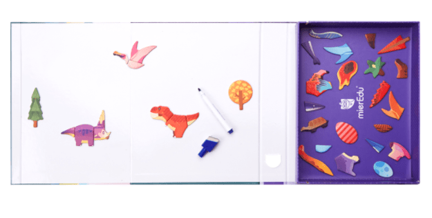 MierEdu 3 Plus Magnetic Art Case - Dino World