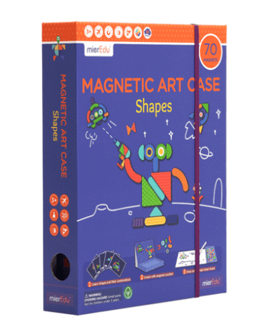 MierEdu 3 Plus Magnetic Art Case - Shapes