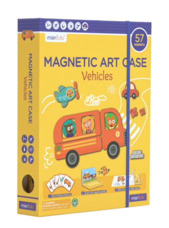 MierEdu 3 Plus Magnetic Art Case - Vehicles