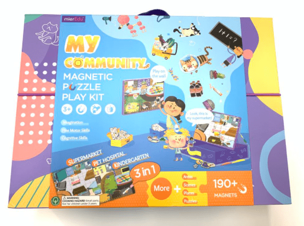 MierEdu 3 Plus Magnetic Puzzle Play Kit - My Community