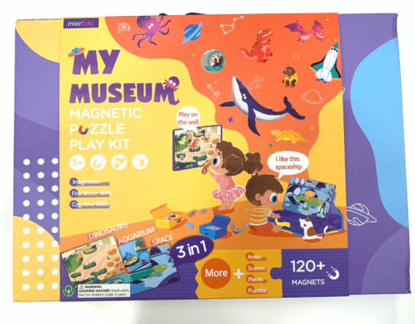 MierEdu 3 Plus Magnetic Puzzle Play Kit - My Museum
