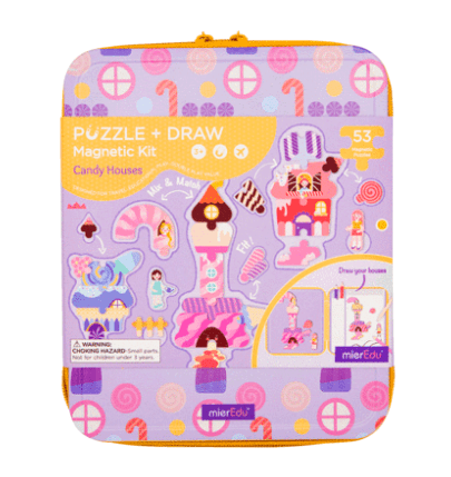 MierEdu 3 Plus Puzzle & Draw Magnetic Kit - Candy House
