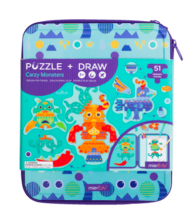 MierEdu 3 Plus Puzzle & Draw Magnetic Kit - Crazy Monsters
