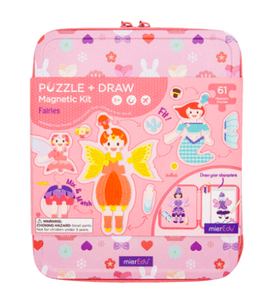 MierEdu 3 Plus Puzzle & Draw Magnetic Kit - Fairies