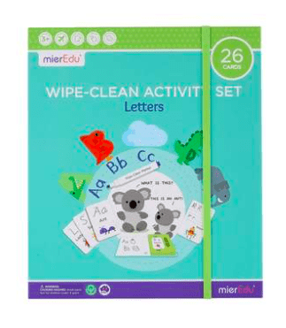 MierEdu 3 Plus Wipe-Clean Activity Set - Letters