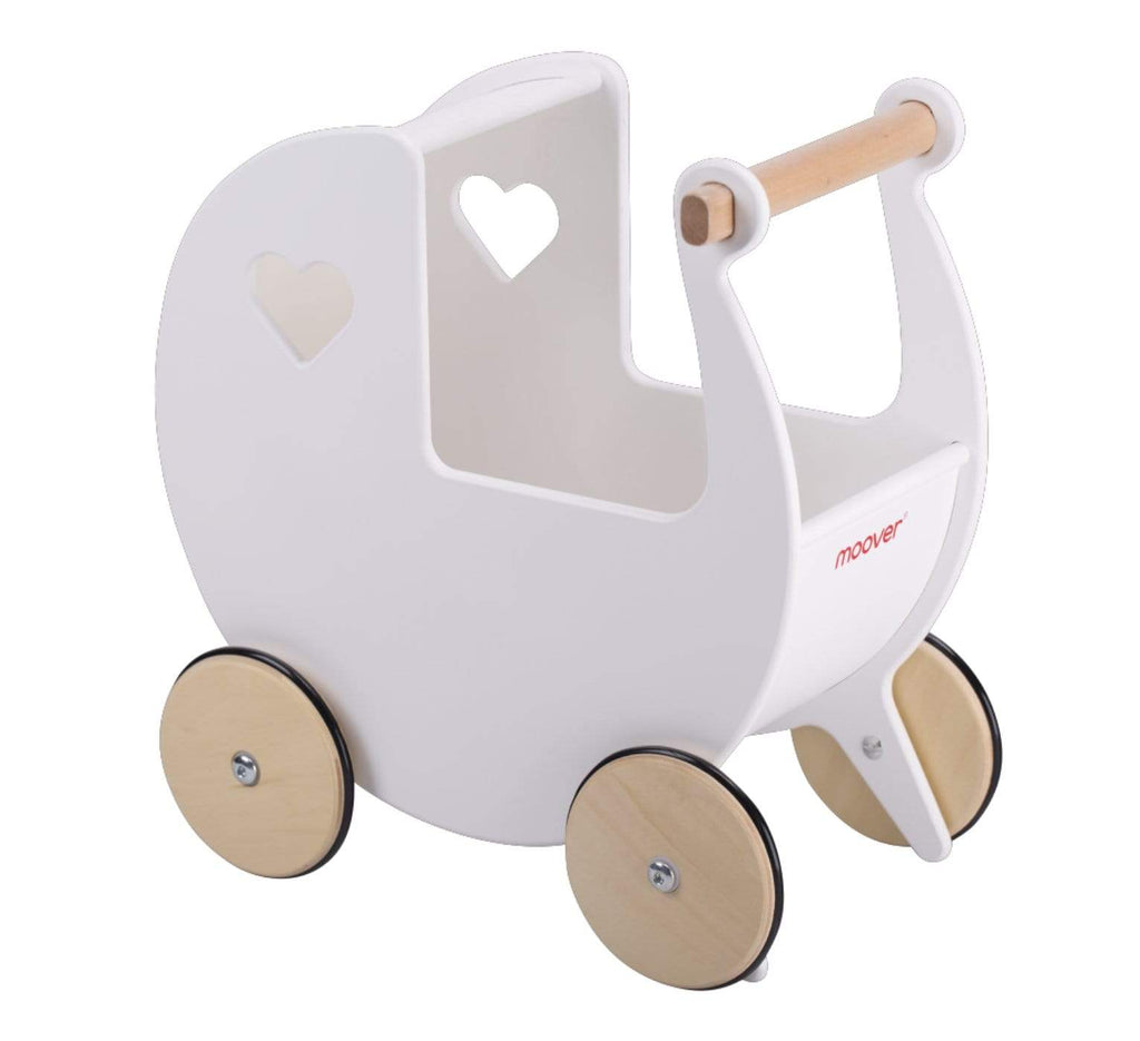 Moover 12 Mths Plus Dolls Pram -White