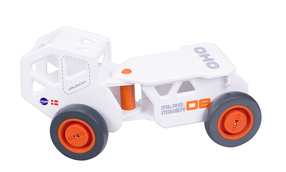 Moover 18 Mths Plus OHO Wooden Ride On - White
