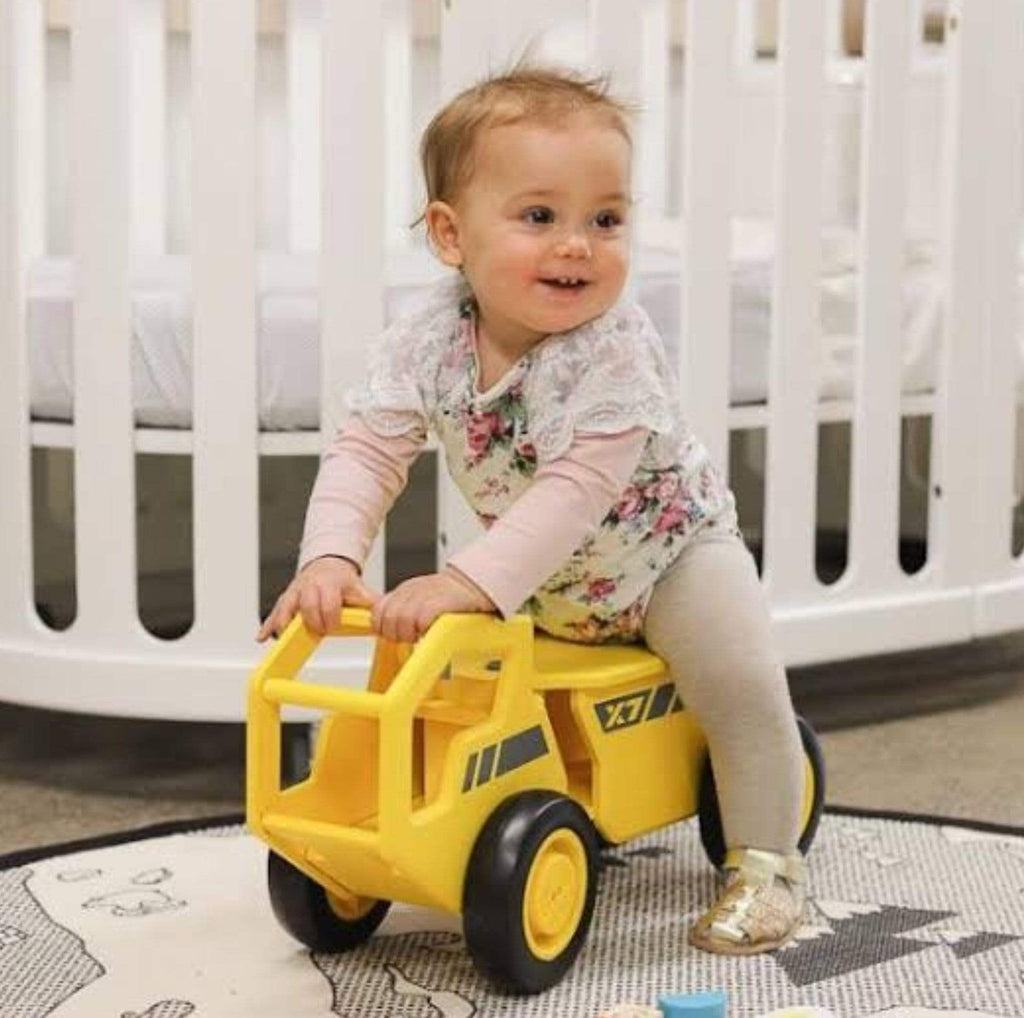 Moover 18 Mths Plus OHO Wooden Ride On - Yellow