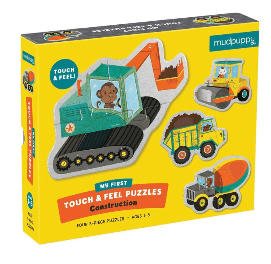 Mudpuppy 12 Mths Plus Touch & Feel Puzzle - Construction