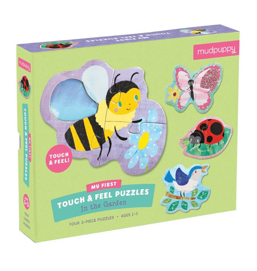 Mudpuppy 12 Mths Plus Touch & Feel Puzzle - Garden
