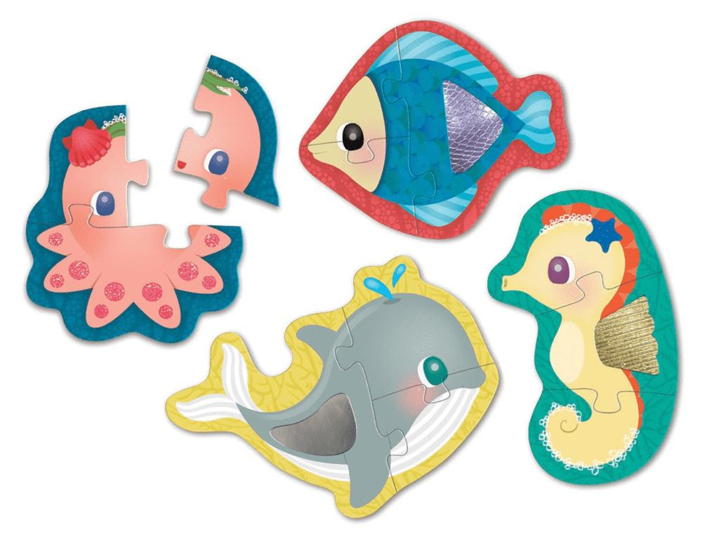 Mudpuppy 12 Mths Plus Touch & Feel Puzzle - Sea