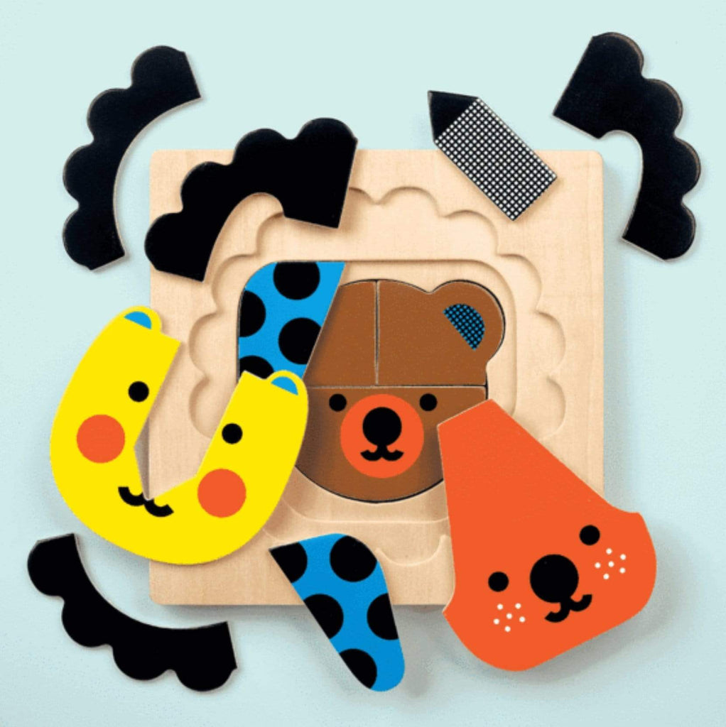 Mudpuppy 2 Plus 4 Layer Puzzle - Animal