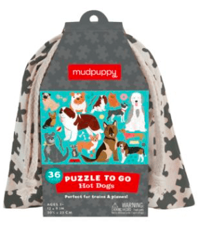 Mudpuppy 3 Plus 36 Pc Puzzle to Go - Hot Dogs