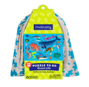 Mudpuppy 3 Plus 36 Pc Puzzle to Go - Ocean Life