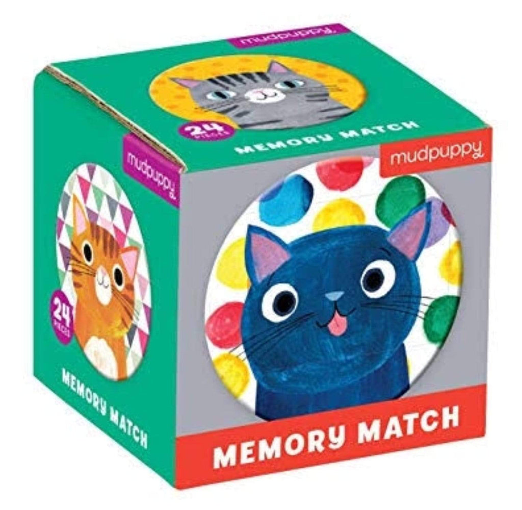 Mudpuppy 3 Plus Mini Memory Match - Cats