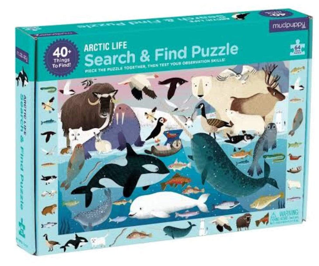 Mudpuppy 4 Plus 64 Pc Search & Find Puzzle  - Arctic