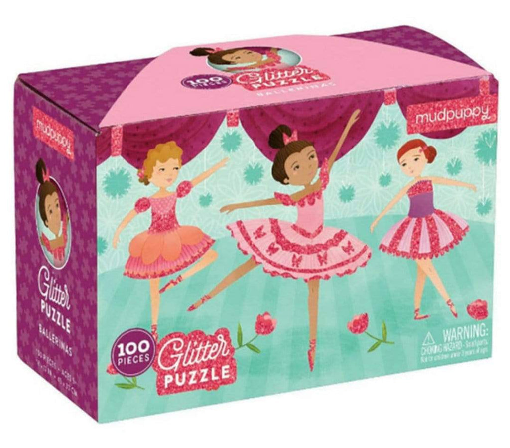 Mudpuppy 5 Plus 100 Pc Glitter Puzzle - Ballerinas