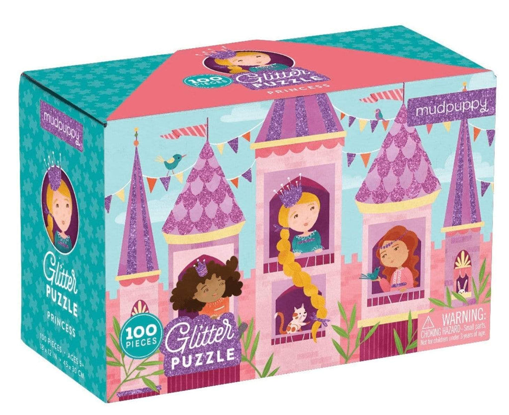 Mudpuppy 5 Plus 100 Pc Glitter Puzzle - Princess