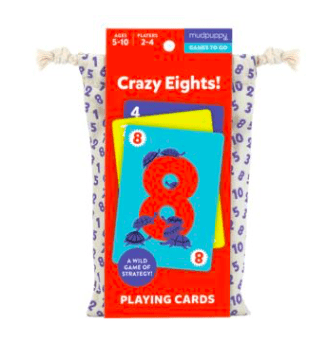 Mudpuppy 5 Plus Playing Cards - Crazy Eights