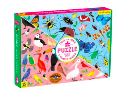 Mudpuppy 6 Plus 100 Pc Double-Sided Puzzle - Bugs & Birds