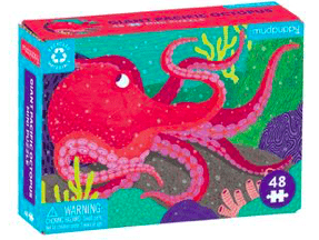 Mudpuppy 6 Plus Giant Pacific Octopus 48 Pc Mini Puzzle