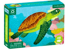 Mudpuppy 6 Plus Green Sea Turtle 48 Pc Mini Puzzle