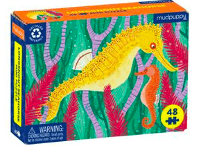 Mudpuppy 6 Plus Longsnout Seahorse 48 Pc Mini Puzzle
